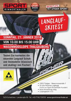 Foto für Langlauf-Skitest Sport Rinnerthaler